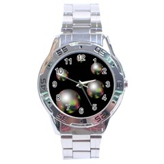 Silver pearls Stainless Steel Analogue Watch