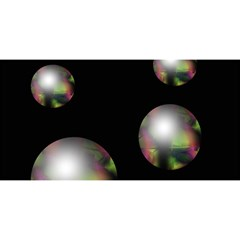 Silver pearls YOU ARE INVITED 3D Greeting Card (8x4)