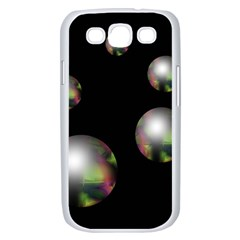 Silver pearls Samsung Galaxy S III Case (White)