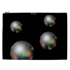 Silver pearls Cosmetic Bag (XXL)