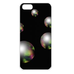 Silver pearls Apple iPhone 5 Seamless Case (White)