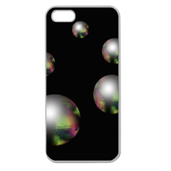 Silver pearls Apple Seamless iPhone 5 Case (Clear)