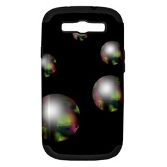 Silver pearls Samsung Galaxy S III Hardshell Case (PC+Silicone)