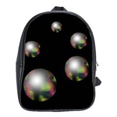 Silver pearls School Bags (XL)