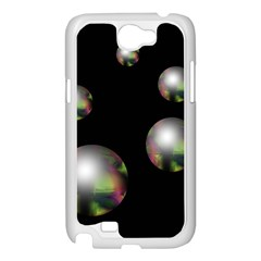 Silver pearls Samsung Galaxy Note 2 Case (White)