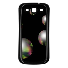Silver pearls Samsung Galaxy S3 Back Case (Black)