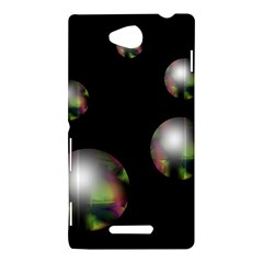 Silver pearls Sony Xperia C (S39H)
