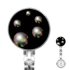 Silver pearls Stainless Steel Nurses Watch