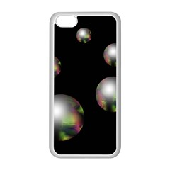 Silver pearls Apple iPhone 5C Seamless Case (White)