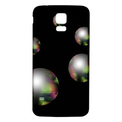 Silver pearls Samsung Galaxy S5 Back Case (White)