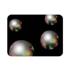 Silver pearls Double Sided Flano Blanket (Mini)