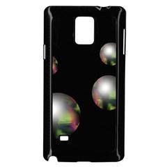 Silver pearls Samsung Galaxy Note 4 Case (Black)