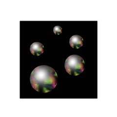 Silver pearls Satin Bandana Scarf