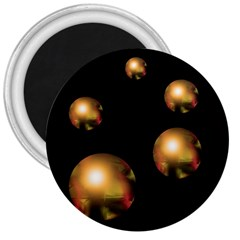 Golden pearls 3  Magnets