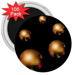 Golden pearls 3  Magnets (100 pack)