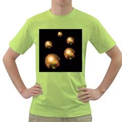 Golden pearls Green T-Shirt