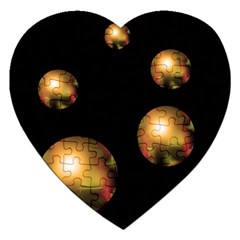 Golden pearls Jigsaw Puzzle (Heart)
