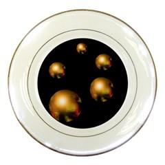 Golden pearls Porcelain Plates