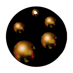 Golden pearls Round Ornament (Two Sides)