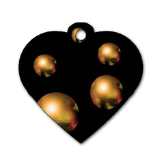 Golden pearls Dog Tag Heart (One Side)