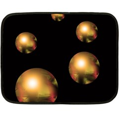 Golden pearls Fleece Blanket (Mini)