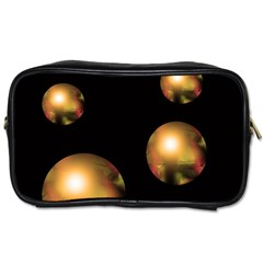 Golden pearls Toiletries Bags 2-Side