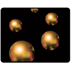 Golden pearls Fleece Blanket (Medium)