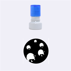 Golden pearls Rubber Round Stamps (Small)