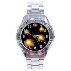 Golden pearls Stainless Steel Analogue Watch