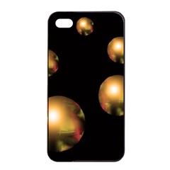 Golden pearls Apple iPhone 4/4s Seamless Case (Black)