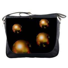 Golden pearls Messenger Bags