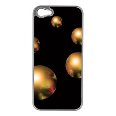 Golden pearls Apple iPhone 5 Case (Silver)