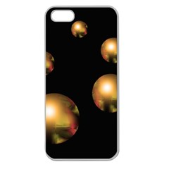 Golden pearls Apple Seamless iPhone 5 Case (Clear)