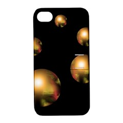 Golden pearls Apple iPhone 4/4S Hardshell Case with Stand