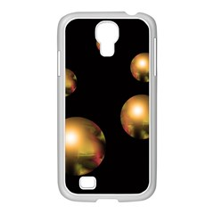 Golden pearls Samsung GALAXY S4 I9500/ I9505 Case (White)