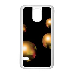 Golden pearls Samsung Galaxy S5 Case (White)