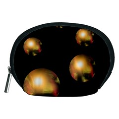 Golden pearls Accessory Pouches (Medium)