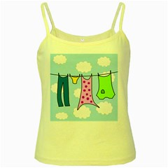 Laundry Yellow Spaghetti Tank