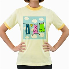 Laundry Women s Fitted Ringer T-Shirts