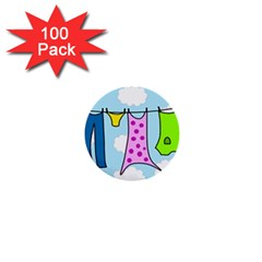 Laundry 1  Mini Buttons (100 pack)