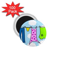 Laundry 1.75  Magnets (100 pack)