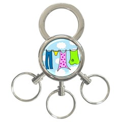 Laundry 3-Ring Key Chains
