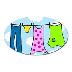 Laundry Oval Magnet