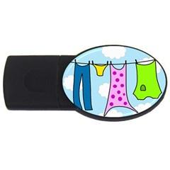 Laundry USB Flash Drive Oval (2 GB)