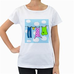 Laundry Women s Loose-Fit T-Shirt (White)
