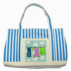Laundry Striped Blue Tote Bag