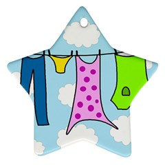 Laundry Star Ornament (Two Sides)