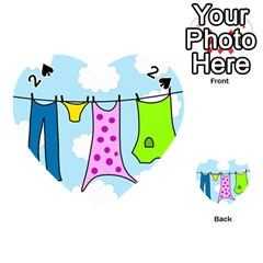 Laundry Playing Cards 54 (Heart)