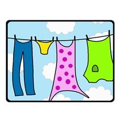 Laundry Fleece Blanket (Small)