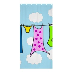 Laundry Shower Curtain 36  x 72  (Stall)